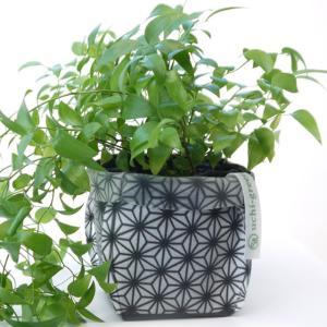 鉢カバー ガーデニング 園芸用雑貨 uchi-green 麻の葉|namustore