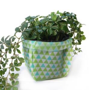 鉢カバー  ガーデニング 3号 uchi-green 鱗 グリーン|namustore