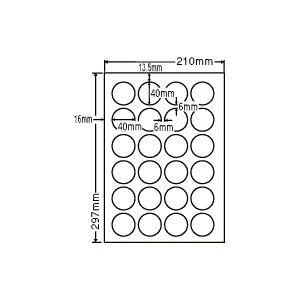 CL-18(L) 正円ラベルシール 1袋 100シート A4 24面 直径40mm レーザー・インクジェット 丸ラベル 円 丸形 マルチタイプ  ナナクリエイト CL18|nana