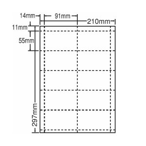CLC-5(L) A4/10面 80シート 手作り名刺用紙 nana