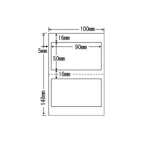 CLH-25(VP5) ラベルシール はがきサイズ 5ケースセット 5000シート 2面 90×50mm マルチタイプ 医療機関向け おくすり手帳・薬袋ラベル 表示ラベル CLH25|nana