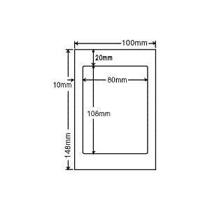 CLH-6(L) ラベルシール はがきサイズ 1袋 100シート 80×108mm マルチタイプ 印刷ラベル 医療機関向け ナナクリエイト CLH6|nana