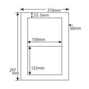 CWL-6(S) 和紙ラベル 10シート 2面 レーザー・インクジェットプリンタ用|nana