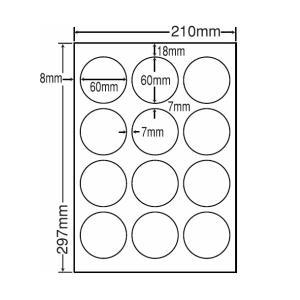 LDW12SG(L) ラベルシール 1袋 100シート A4 12面 直径60mm レーザー・インクジェット 正円ラベル 円型 丸形 丸型 東洋印刷 LDW12SG|nana
