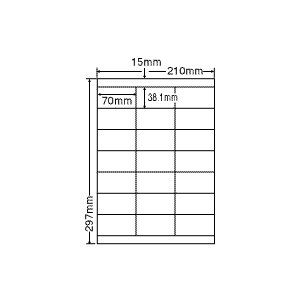 LDZ21QC(L) ラベルシール 1袋 100シート A4 21面 70×38.1mm マルチタイプ 表示・商用ラベル 東洋印刷 ナナワード LDZ21QC|nana