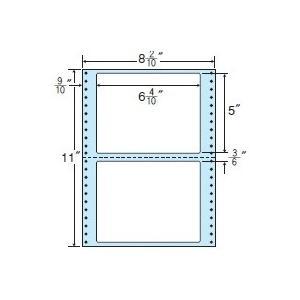 MM8E(VP2) 連帳ラベル/2面/163mm×127mm/1000折り/ナナクリエイト/ドットプリンタ/東洋印刷/ナナフォーム/ナナラベル/8インチ幅|nana