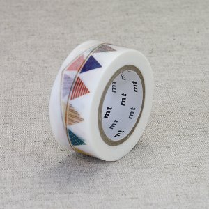 mtマスキングテープ / 幅20mm / フラッグ / カモ井加工紙 / ガーランド / mtex フラッグ / MTEX1P82 nana