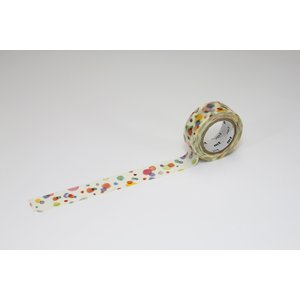 mtマスキングテープ / 幅15mm / 水玉 / カモ井加工紙 / てんてん / kidsてんてん/ MT01KID021 nana