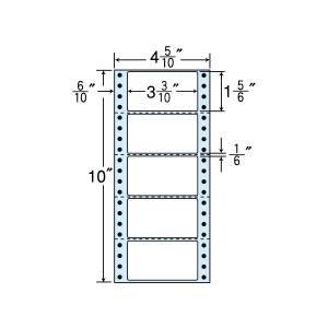 NC04RB(VP) ミシン目入 連帳ラベル タックフォームラベル 5面付 1000折 ブルーセパ 84×47mm ナナクリエイト 東洋印刷 連続ラベル 4インチ幅|nana