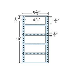 NC05SB(VP2)連続ラベルブルーセパ 5面 2000折 112×42mm ミシン入 ナナクリエイト東洋印刷 ナナフォーム ナナラベル 5インチ幅|nana