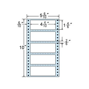 NC05SB(VP3) 連続ラベルブルーセパ 5面 3000折 112×42mm ミシン入 ナナクリエイト東洋印刷 ナナフォーム ナナラベル 5インチ幅|nana