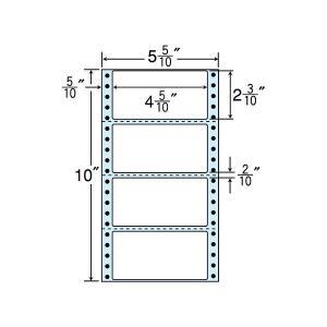NC05WB(VP2) 連続ラベルブルーセパ 4面 2000折 114×58mm ミシン入 ナナクリエイト東洋印刷 ナナフォーム ナナラベル 5インチ幅|nana