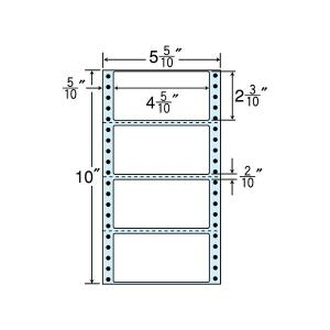 NC05WB(VP3) 連続ラベルブルーセパ 4面 3000折 114×58mm ミシン入 ナナクリエイト東洋印刷 ナナフォーム ナナラベル 5インチ幅|nana