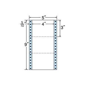 NC05ZB(VP5)  連帳ラベルブルーセパ 3面 5000折 102×76mm ナナクリエイト 東洋印刷 タックフォーム 5インチ幅|nana