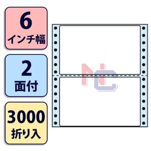 NC06iB(VP3) ミシン入連帳ラベルブルーセパ 2面 3000折 140×85mm タックフォーム ラベルシール ナナクリエイト東洋印刷ナナラベル 強粘着 6インチ幅|nana