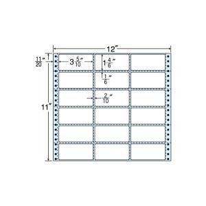 NH12PB(VP3) ラベルシール/18面/1500折り/連続ラベル タックフォーム ナナクリエイト東洋印刷 ナナフォーム ナナラベル ブルーセパ|nana