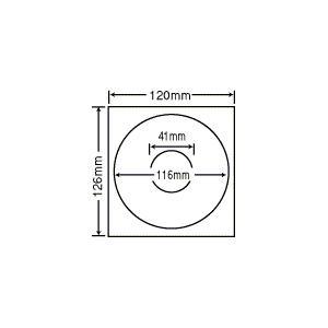 PFH-2【CD-R/DVD-R用透明保護フィルム  内円41mmタイプ】(紫外線カットで耐久性アップ!) ナナクリエイト(東洋印刷)ナナラベル|nana