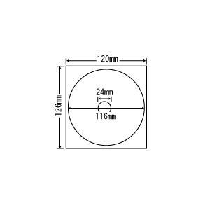 PFH-3【CD-R/DVD-R用透明保護フィルム 内円24mmタイプ】(紫外線カットで耐久性アップ!) ナナクリエイト(東洋印刷)ナナラベル|nana