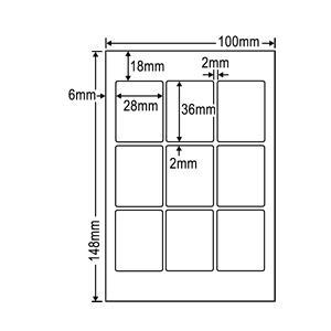 PFH-9(L)【透明保護フィルム はがきサイズ 9面/10シート入り】(ミニ写真シール用保護フィルム)(紫外線カットで耐久性アップ!) ナナクリエイト(東洋印刷)|nana