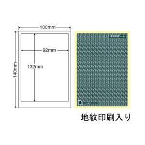 PPE-1G(L) 個人情報保護シール 貼り直し可能 1袋 100枚 はがき全面タイプ 地紋印刷入り目隠しシール 簡易タイプ 92×132mm ナナクリエイト グリーン 緑|nana