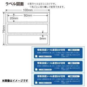 PPS-5(L) 往復はがき用個人情報保護シール 80枚 92×20mm 1度だけ貼れる(貼り直し不可)セキュリティタイプ 目隠しラベル 必要箇所タイプ ナナクリエイト|nana