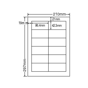 RCL-11(VP) エコロジー再生紙ラベル 1ケース 500シート A4 12面 86.4×42.3mm インクジェット レーザー対応 ナナクリエイト nana RCL11 nana