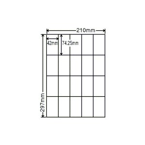RCL-22(L) エコロジー再生紙ラベル 1袋 100シート A4 20面 42×74.25mm インクジェット レーザー対応 ナナクリエイト nana RCL22 nana