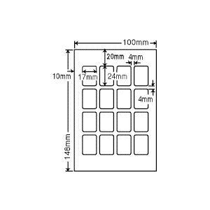 SCJH1(L) 光沢ラベルシール 100シート はがきサイズ 16面 17×24mm プリクラ用シール ナナクリエイト 東洋印刷 ナナラベル|nana