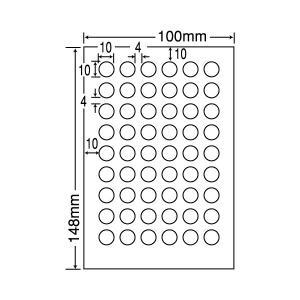 SCJH19(S) カラーインクジェット用光沢ラベル 丸型 12シート はがきサイズ 54面 10×10mm ナナクリエイト 東洋印刷 ナナラベル nana
