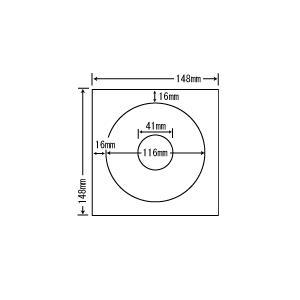 SCJR-2(L)【カラーインクジェット光沢紙 CD-R/DVD-R用ラベル】(80シート入り) ナナクリエイト(東洋印刷)ナナラベル|nana