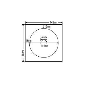 SCJR3F【カラーインクジェット対応耐水光沢フィルムラベル CD-R/DVD-R用】 ナナクリエイト(東洋印刷)ナナラベル|nana