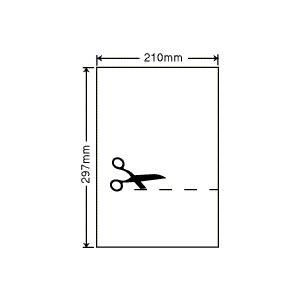 SCL7C(L) A4/1面/ノーカット100シート 透明フィルムラベル 耐水ラベルシール nana