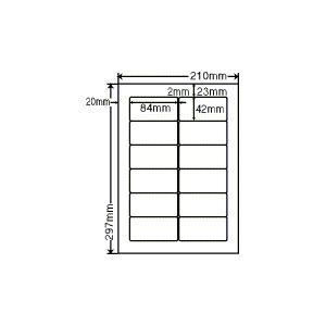 SHC210(L) ラベルシール 1袋 100シート A4 12面 84×42mm 宛名ラベル 商用ラベル 東洋印刷 ナナワード SHC210 nana