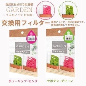 自然気化式ECO加湿器 うるおい ちいさな庭 交換用フィルター 積水樹脂 チューリップ サボテン|nana