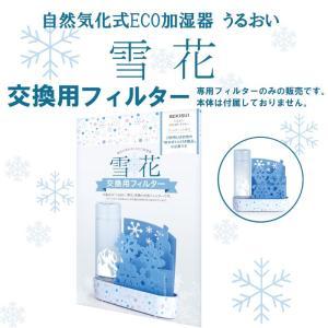 自然気化式ECO加湿器 うるおい 雪花 交換用フィルター 積水樹脂 雪の結晶 雪だるま|nana