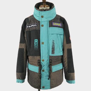 C.E(シーイー) FOG SNOW JACKET  メンズ アウター スノージャケット ナイロン  グラフィック 中綿入り ブラウン/茶色