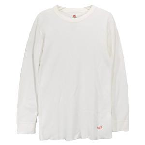 SUPREME シュプリーム x Hanes ヘインズ THERMAL CREW サーマルクルー ロングスリーブ トップ カットソー ロンT 長袖 Tシャツ ホワイト|nanainternational