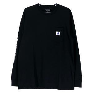 ソフネット カットソー SOPHNET. x CARHARTT WIP カーハート 19AW L/S POCKET TEE SOPH-192183 ロングスリーブ ポケット Tシャツ ロンT ブラック|nanainternational
