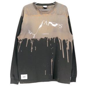 WTAPS ダブルタップス 19SS DESIGN LS XeroX/TEE.COPO 191ATDT-CSM01S デザイン ロングスリーブ Tシャツ ブラウン ロンT|nanainternational