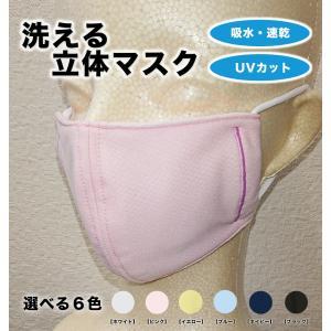 夏用 洗える マスク 吸水 速乾 紫外線カット スポーツに最適! 日本製