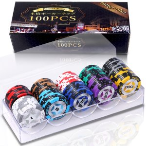 カジノチップ ポーカーチップ  チップ 14g 10種類 100枚 セット
