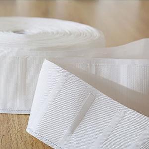 カーテンテープ カーテン 裾上げテープ 白 綿 6m