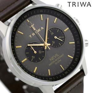 ポイント最大12倍 トリワ TRIWA ネビル スモーキー 42mm クロノグラフ 腕時計 NEST...