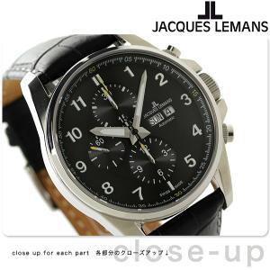【あすつく】ジャックルマン リバプール クロノグラフ 自動巻き 腕時計 1-1750A