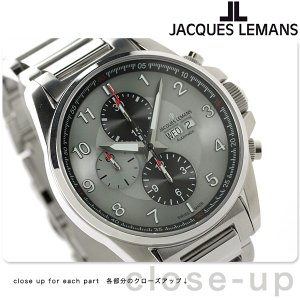 【あすつく】ジャックルマン リバプール クロノグラフ 自動巻き 腕時計 1-1750E