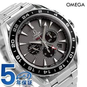 オメガ シーマスター アクアテラ 150M GMT クロノグラフ 自動巻き メンズ 腕時計 231.10.44.52.06.001 OMEGA グレー|nanaple