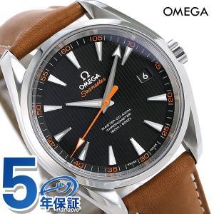 オメガ シーマスター アクアテラ 150M マスターコーアクシャル 自動巻き メンズ 腕時計 231.12.42.21.01.002 OMEGA ブラック×ブラウン|nanaple