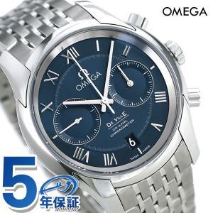 best service 25223 0ae2f 今ならポイント最大21倍! オメガ デビル コーアクシャル クロノグラフ 42mm 自動巻き 431.10.42.51.03.001 ブルー  OMEGA 腕時計