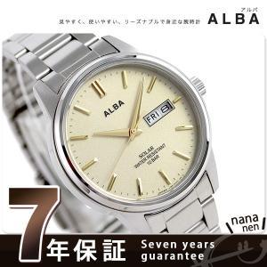 セイコー アルバ ソーラー 日本製 メンズ 腕時計 AEFD564|nanaple