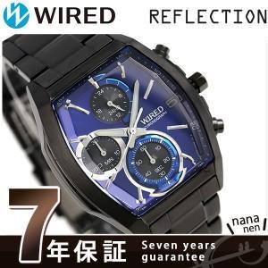 6077018afc セイコー ワイアード SEIKO クロノグラフ メンズ 腕時計 AGAV125 ニューリフレクション オールブラック|nanaple ...